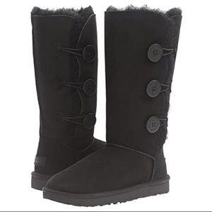 UGG Bailey Button Triplet - Black Boot Girls/Women